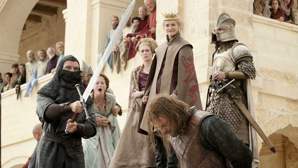 Eddard Stark's Execution on the order of King Joffrey, Game of Thrones, HBO TV Series