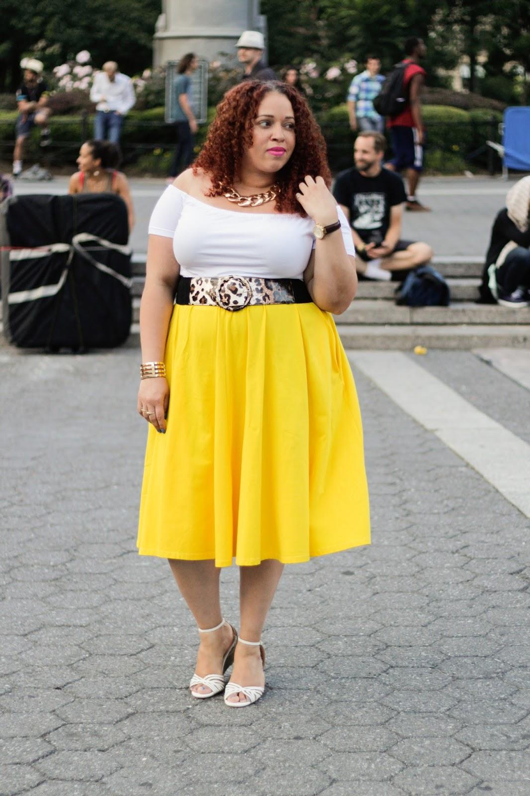 d697bb3025aac Top   Skirt (similar) - Rebdolls  Shoes - Payless  Belt - Torrid  Necklace    Bracelet c o Fashion to Figure