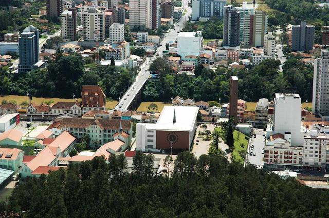 Vista aérea de Blumenau - SC