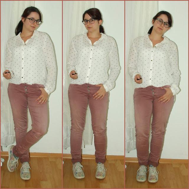 [Fashion] Diamonds are a Girl's Best Friend: Altrosa Jeans und Diamanten-Bluse