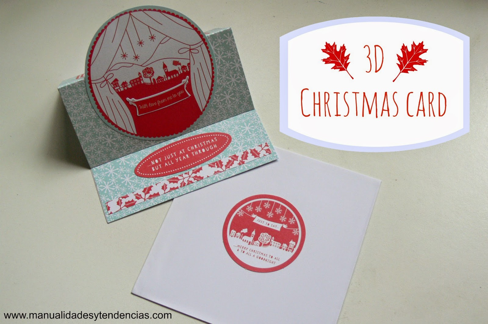 Handmade 3D Christmas card