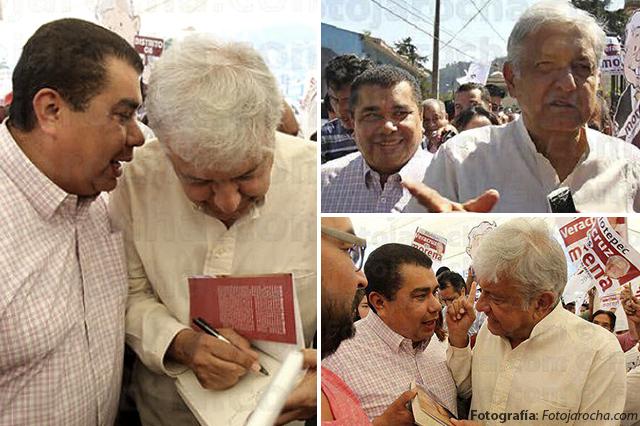 Zavala con AMLO en Veracruz