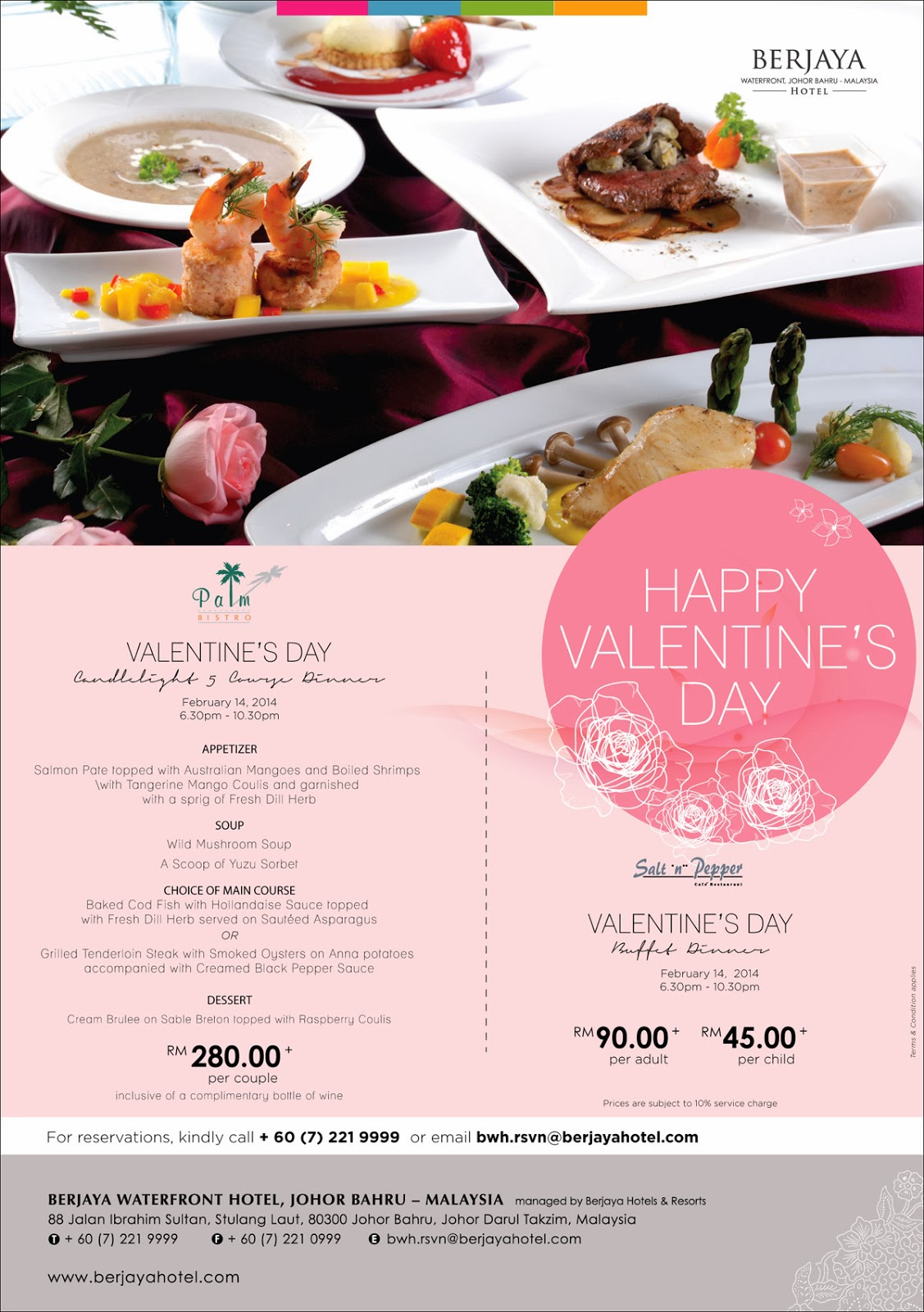 SHARE THE LOVE THIS VALENTINE'S DAY AT BERJAYA WATERFRONT HOTEL