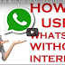 Use WHATSAPP,FB,INSTA,TWITER,IMO with out internet by using chat SIM