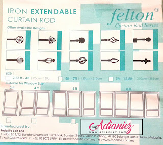 D.I.Y Aeon Extendable Curtain Rod