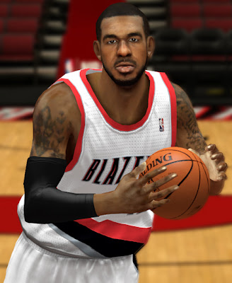 NBA 2K13 LaMarcus Aldridge Cyber Face Patch