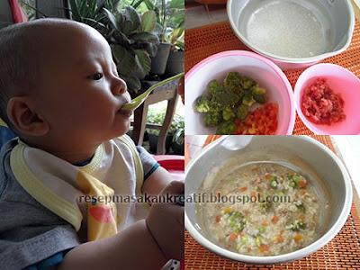 Cara Membuat Bubur Saring Bayi Daging Sapi Brokoli