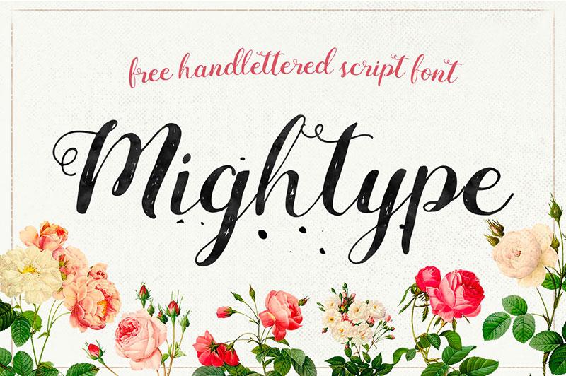 Mightype Script Free Font