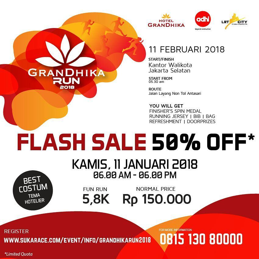 Flash Sale GranDhika Run • 2018
