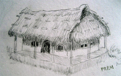 Sketch of a Surrealistic Hut
