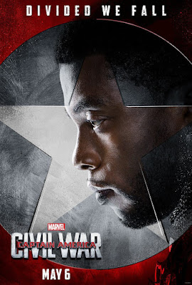 "Captain America Civil War ""Team Iron Man"" Character Movie Poster Set - Chadwick Boseman as Black Panther"