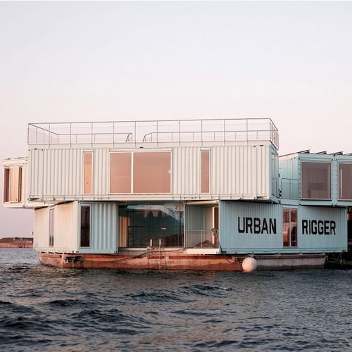 Tinuku BIG piled container Urban Rigger for cheap student hostel in Copenhagen harbor