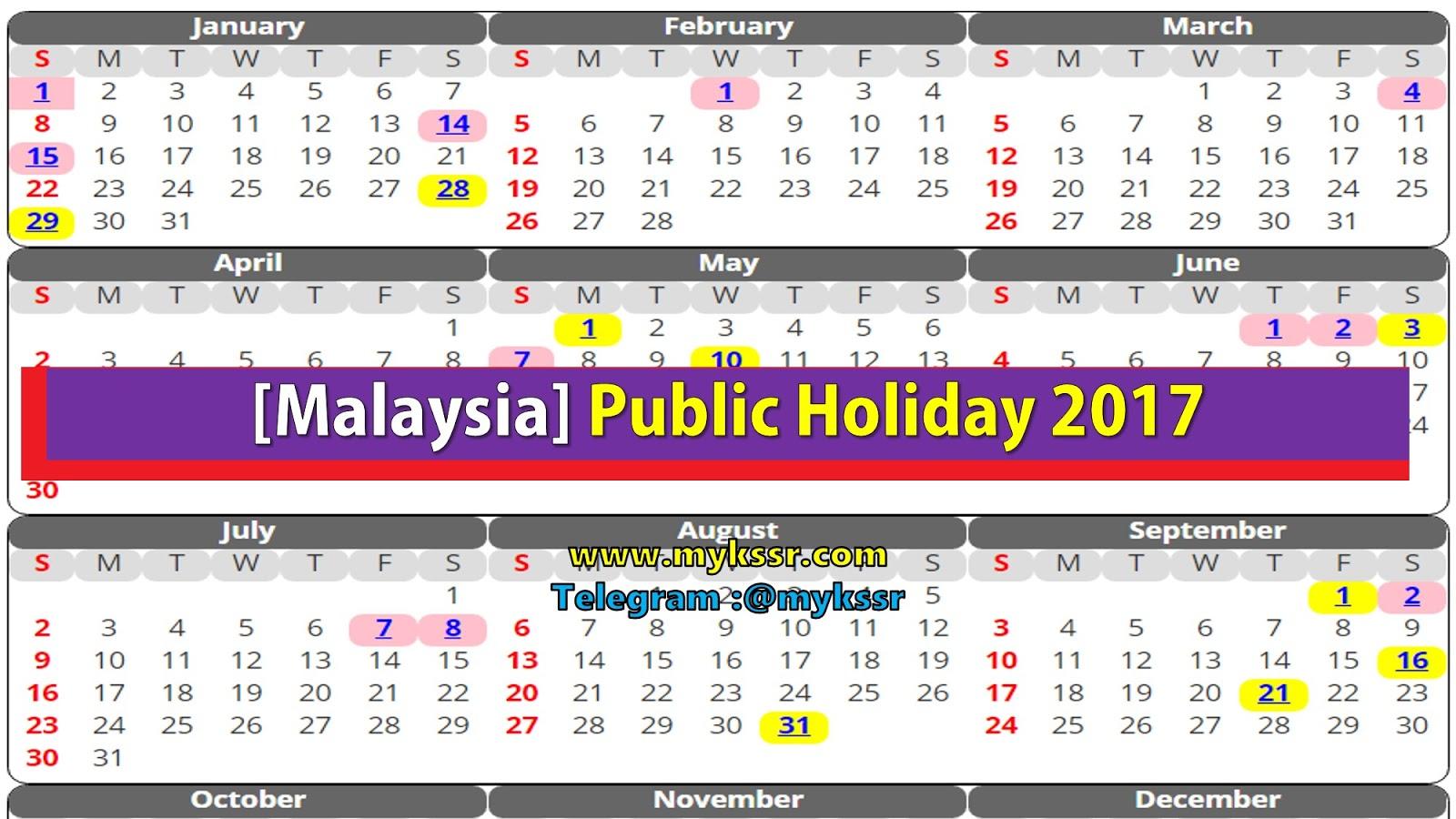 2017 Malaysia Related Keywords & Suggestions - Kalendar 2017 Malaysia ...