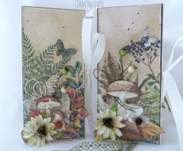 ozdoby czekoladownika -dary natury i grzyby