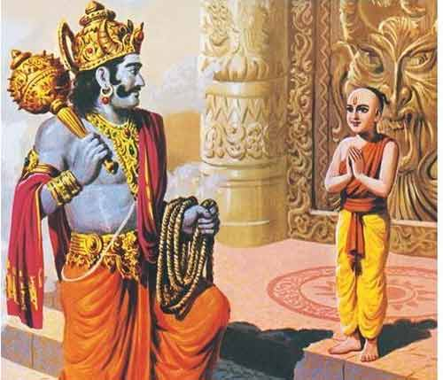 The Young Boy in Katha Upanishad Who Wanted to know Mystery of Death from Yama