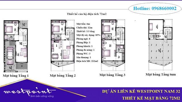 Thiết kế Liền kề biệt thự tại khu đô thị Westpoint nam 32