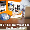 Widget G+ Followers Dan Facebook Like Box Sliding