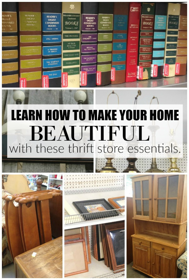 How to use thrift store finds to update and decorate your home