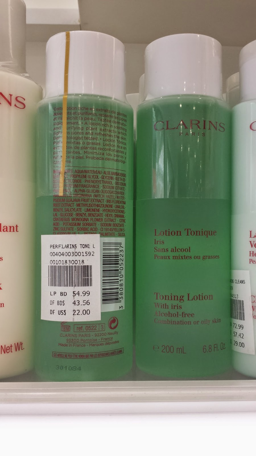 Clarins Toning Lotion with Iris - www.modenmakeup.com
