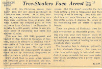Newspaper clipping, 'Tree Stealers'