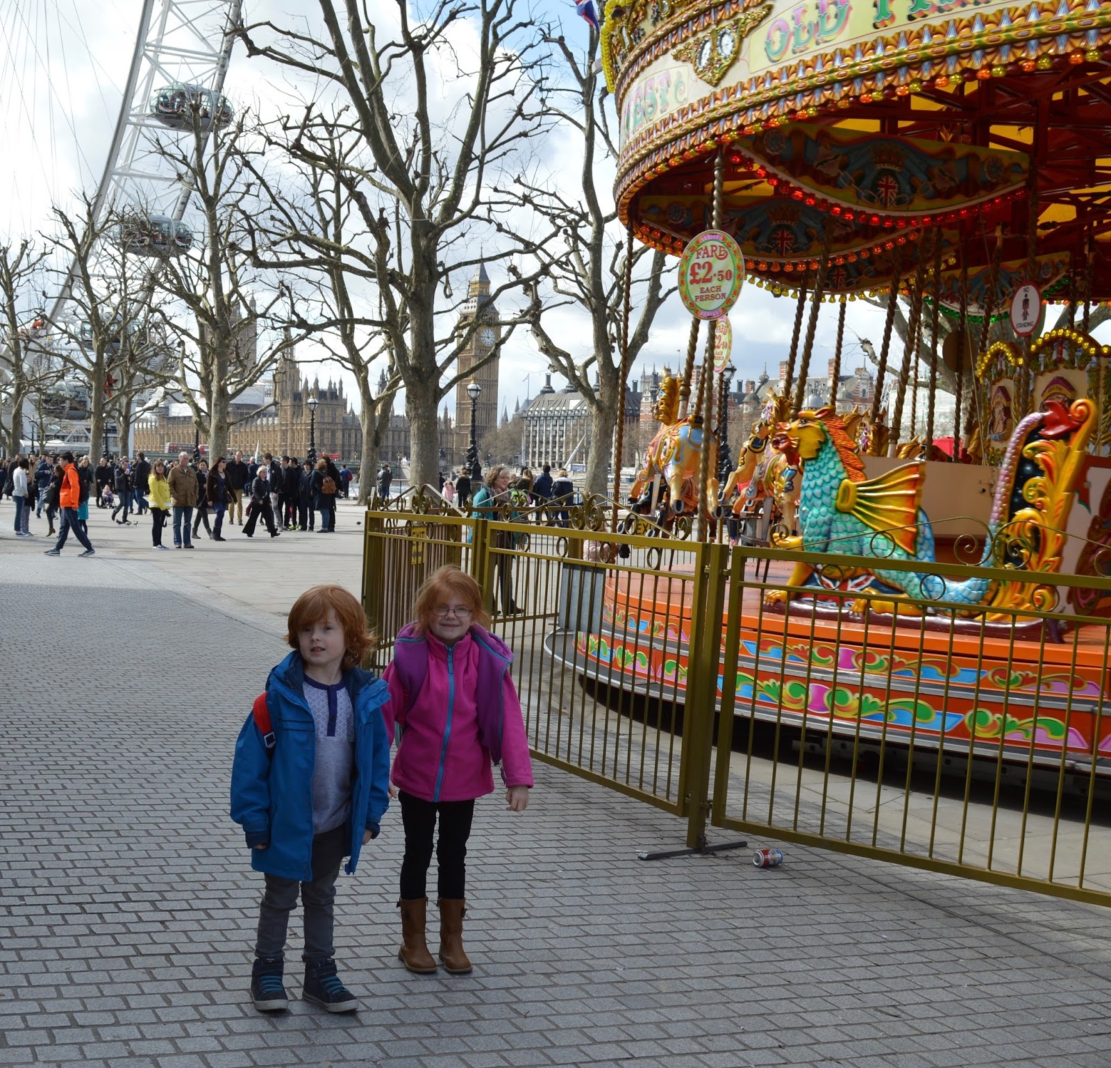 A family day trip to London with Virgin Trains East Coast - London's Southbank Fairground