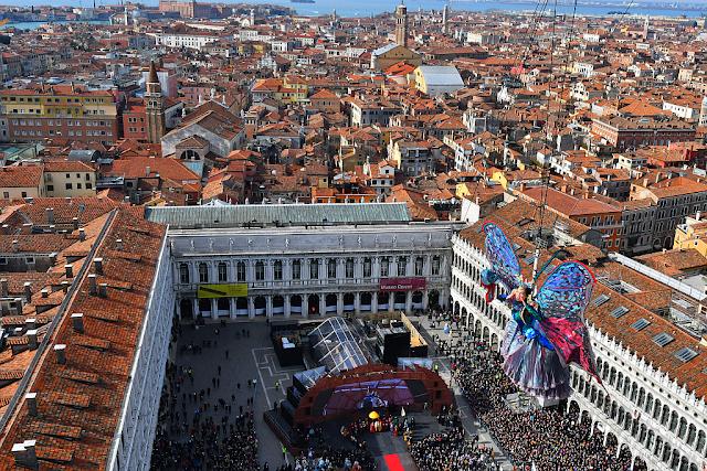 Let anděla, Volo dell´Anagelo patří každoročně k vrcholům Benátského karnevalu