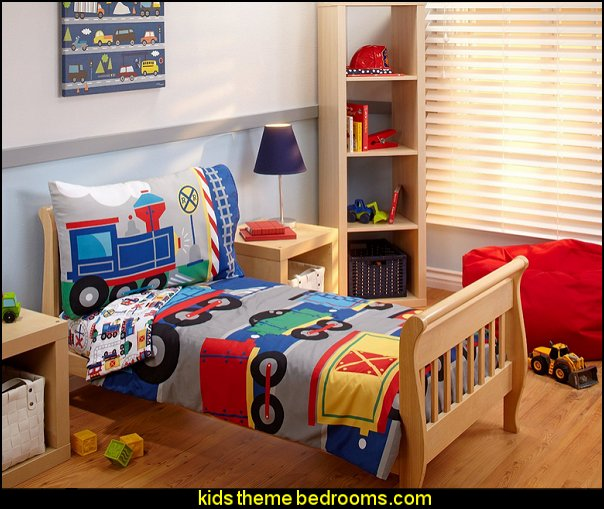 Everything Kids toddler Bedding Set Choo Choo  Train themed bedroom decorating ideas - boys bedroom train theme decor  - train themed beds - train themed furniture - train theme bedding - train theme decorations - Thomas the tank bedroom - Thomas the tank theme bed - old world train themed bedroom - vintage style trains wall murals - choo choo trains wall decal stickers - Train Theme furniture