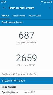 Meizu M5 Note Geekbench Score