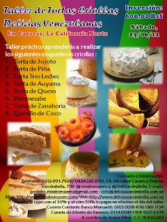 Taller de Tortas Criollas Delicias Venezolanas