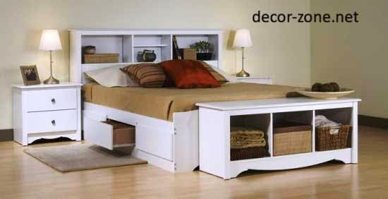 beside bench storage, bedroom storage ideas