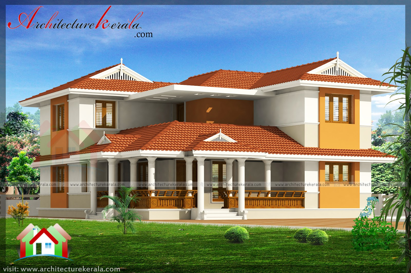2000 Square Feet House Plan And Elevation Architecture