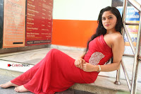 Actress Zahida Sam Latest Stills in Red Long Dress at Badragiri Movie Opening .COM 0152.JPG