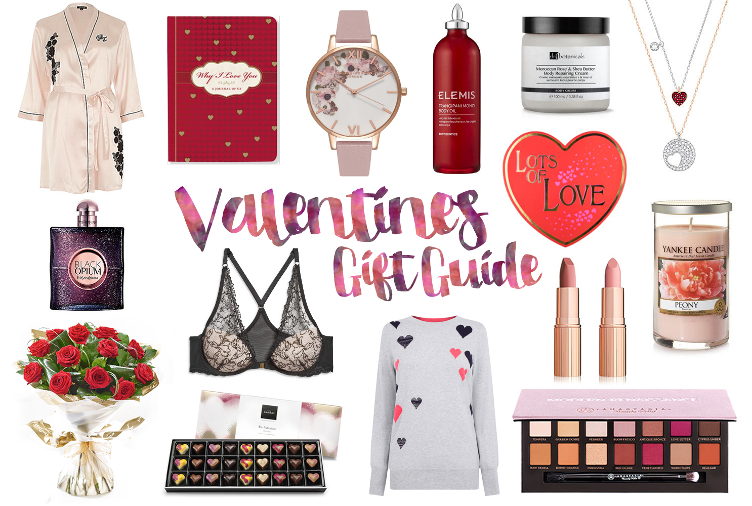 Valentine's Day Gift Guide for Her, Katie Kirk Loves, Gift Guide, Gift Ideas, Beauty Gifts, Romantic Gifts, Valentines Gift Ideaas, Beauty Blogger, UK Blogger