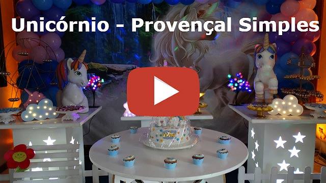 Decoração provençal Unicórnio para festa de aniversário