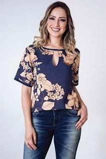 moda da blusa com estampa