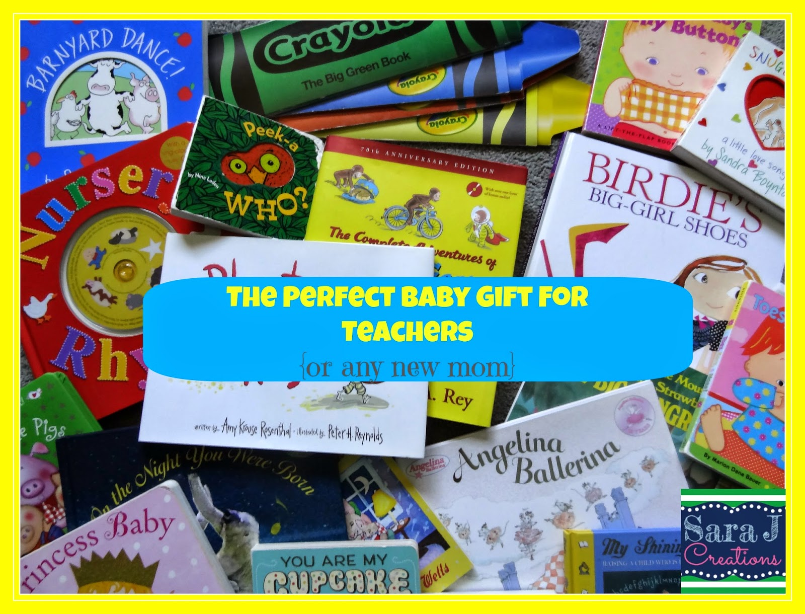 Giving books instead of cards makes the perfect collection for a new baby