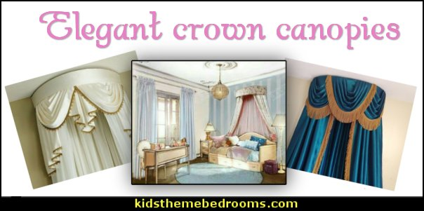 Elegant Crown Canopies  Luxury bedroom designs - Marie Antoinette Style theme decorating ideas - French provincial furniture baroque style - Louis XVI furniture - Rococo furniture - baroque furniture - marie antoinette bedroom ideas - marie antoinette bedroom furniture - luxury bedding -  luxury curtains - luxury dining - luxury furniture - luxury living