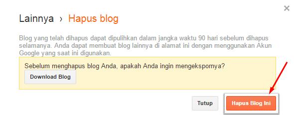 Hapus Blog Ini