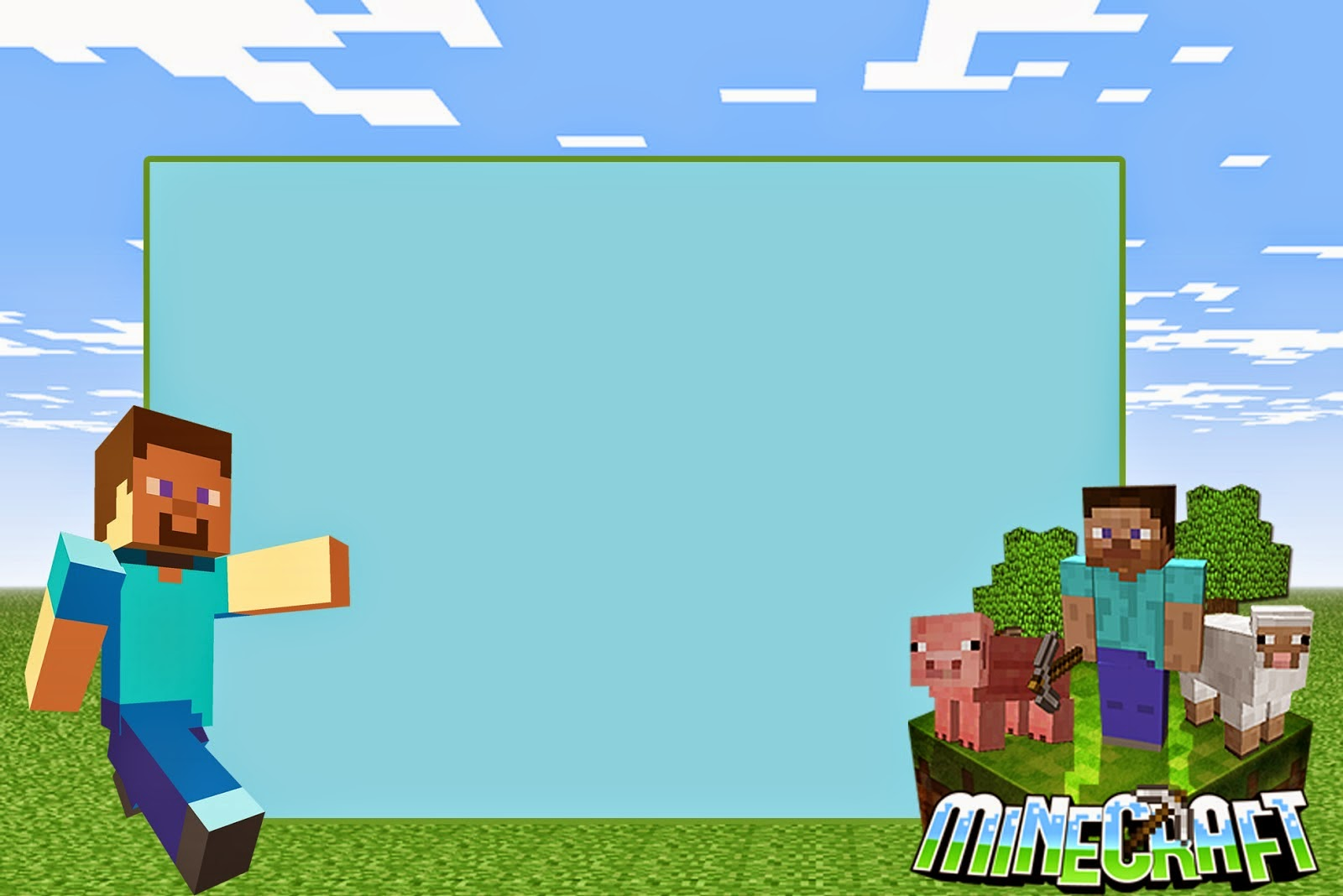 Minecraft invitaciones para imprimir gratis ideas y for Programas de decoracion online
