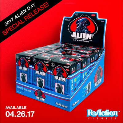 "Alien Xenomorph ReAction 3.75"" Retro Action Figure Blind Box Series by Super7"