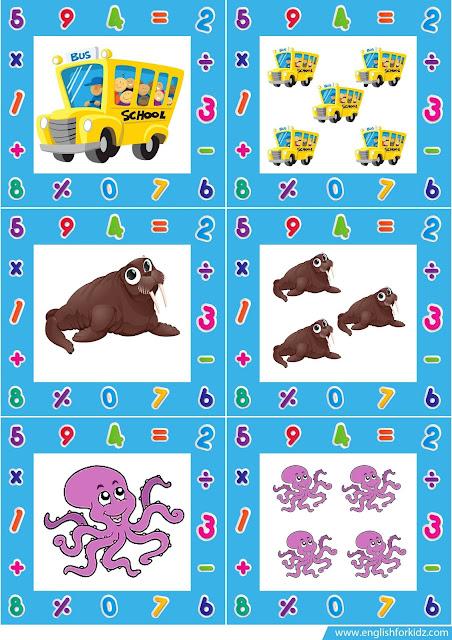 singular and plural noun flashcards