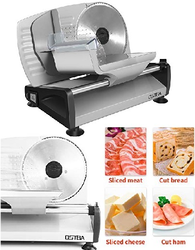 Ostba Food Slicer - Universal Slicing Machine for Meat, Bread, Cheese, Vegetables and Fruits