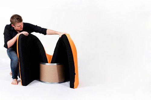 Diseño de sillón creativo