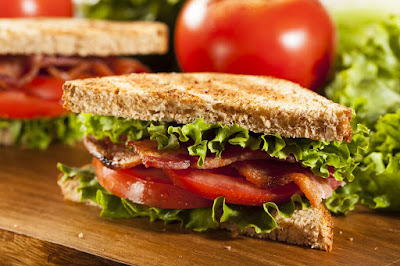 healthy Sourdough BLT sandwich