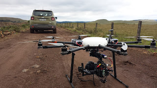 Cena com Drone