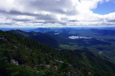 Elk Lake from the summit of Dix Mountain, 08/22/2016.  The Saratoga Skier and Hiker, first-hand accounts of adventures in the Adirondacks and beyond, and Gore Mountain ski blog.