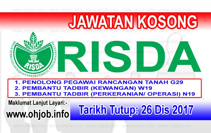 Jawatan Kerja Kosong RISDA logo www.ohjob.info disember 2017
