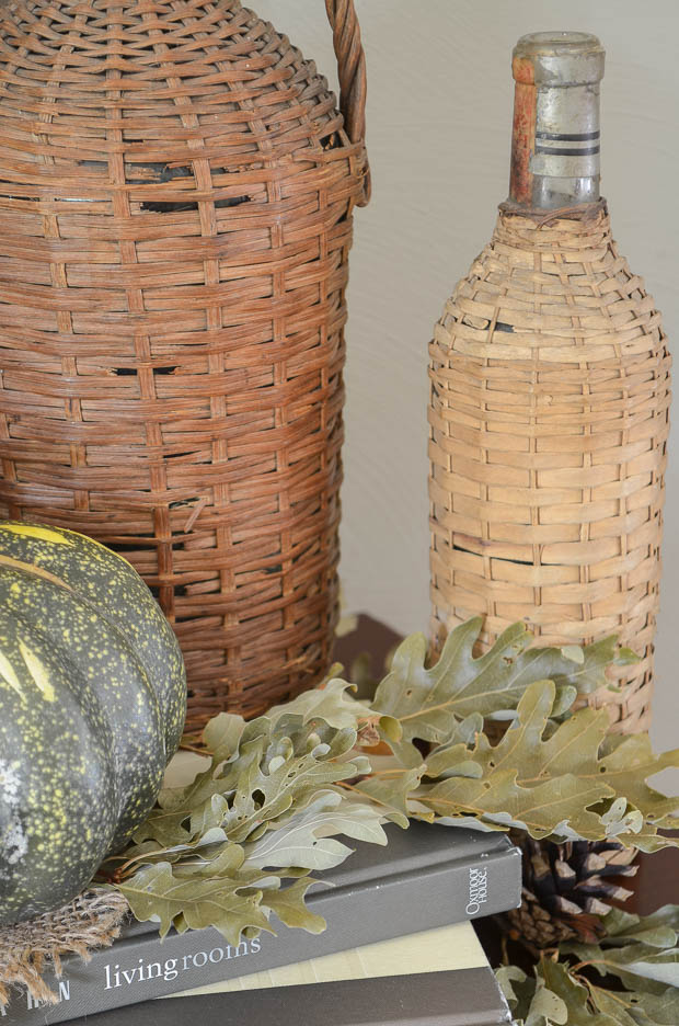 Pumpkins and leaves is all you need for simple fall decorating.