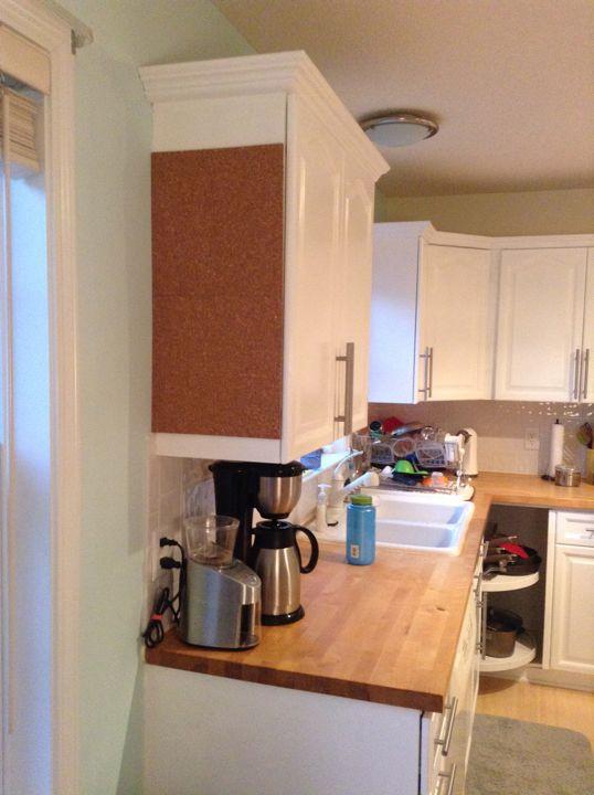 kitchen cork board foster house rh fosterhouseblog blogspot com kitchen cork board ideas cork board kitchen backsplash