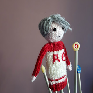Knitted Viktor Nikiforov by Nicky Fijalkowska